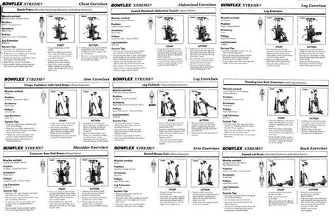 printable exercise instructions best bowflex routines the famous 20 minute workout