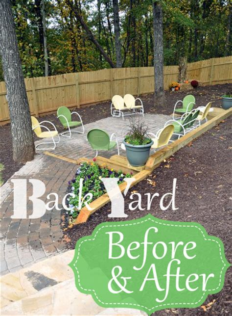 Back At The Backyard Back Yard Before After At Willow Creek All Things