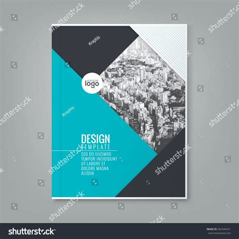 simple book cover template minimal simple blue color design template stock vector