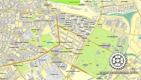 printable map budapest city map budapest vector urban plan adobe pdf editable
