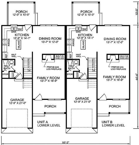 floor 1 house plan duplex floor plans duplex plans