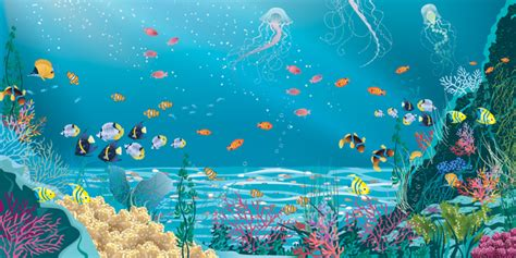 Mermaid Wall Murals pro art under the sea