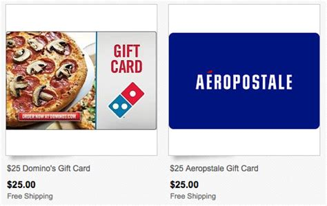 Aeropostale Gift Card Walgreens - ebay com 50 worth of aeropostale and or domino s gift cards only 40 shipped