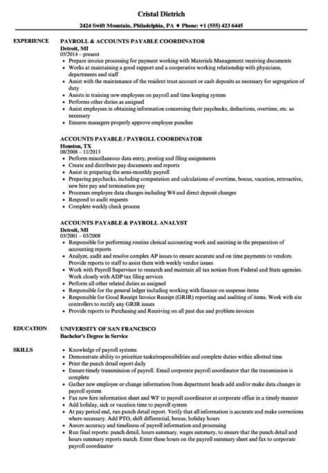 resume for accounts payable jalcine me