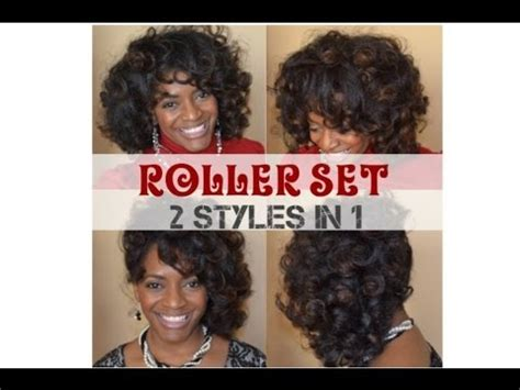 natural hair tutorial making your roller set youtube 34 natural hair tutorial roller set 2 in 1 styling