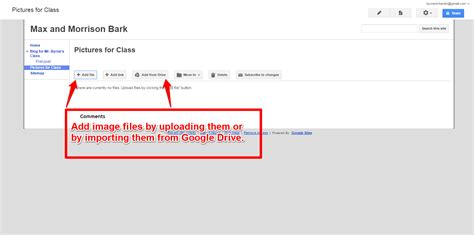 free technology for teachers use google sites file