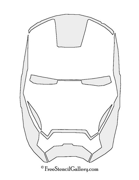 ironman mask template iron mask stencil free stencil gallery