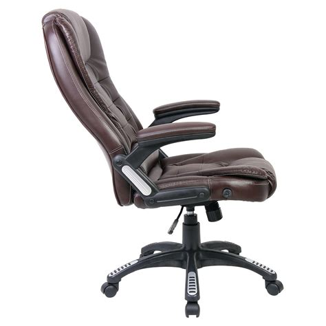 office chair reclining rio luxury reclining executive office desk chair faux