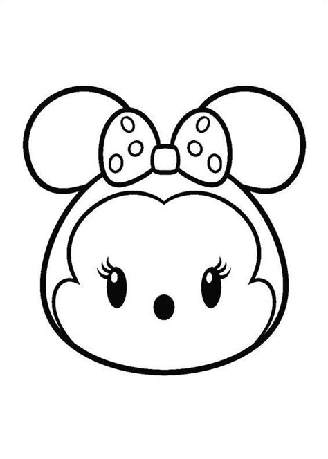 imagenes kawaii para dibujar faciles 27 coloring pages of tsum tsum children pinterest