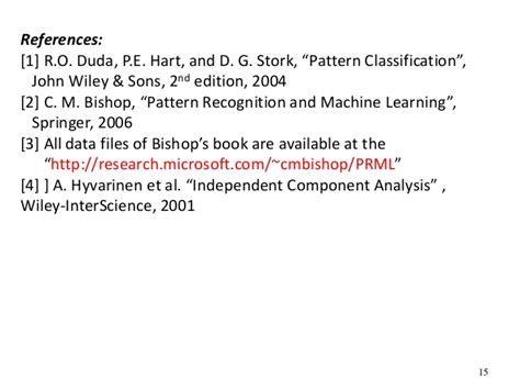 pattern classification john wiley and sons 2012 mdsp pr09 pca lda