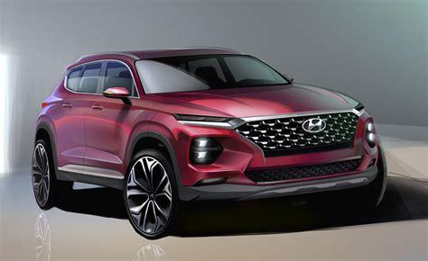 2018 Hyundai Santa by 2018 Hyundai Santa Fe Design Revealed Gets Kona Treatment