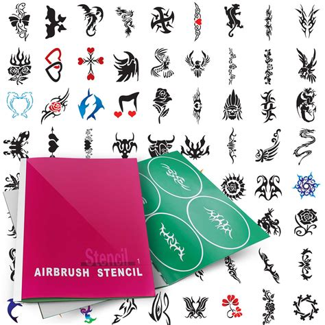 henna tattoo stencils amazon temporary airbrush design stencil patterns ebay