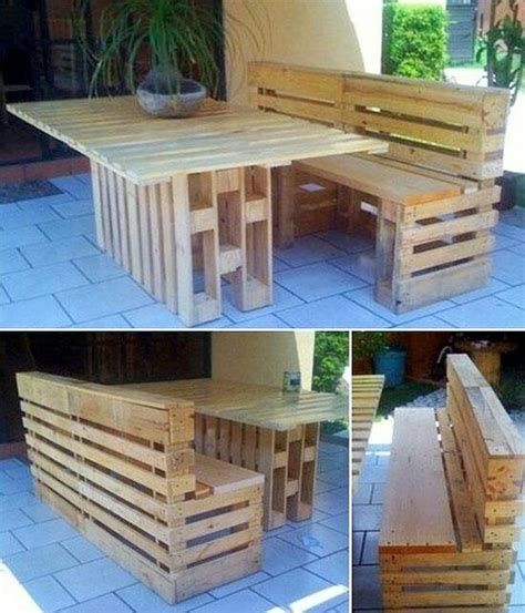 Pallet Patio Furniture Home Decor Pinterest Gardens Patio Furniture Wood Pallets