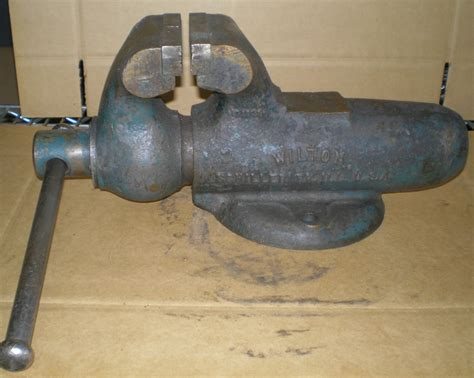 used bench vise for sale vintage wilton 4 quot 101028 bullet anvil bench mount
