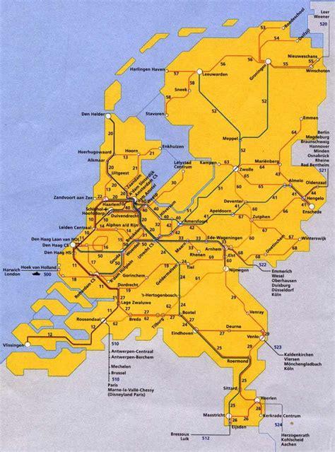 netherlands map ns de nederlandse spoorkaart ns nederlandse spoorwegen