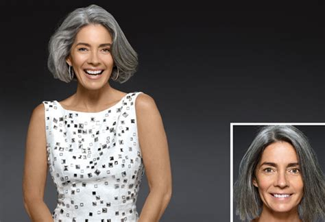 coloring gray hair before and after coloring grey hair before and after pictures