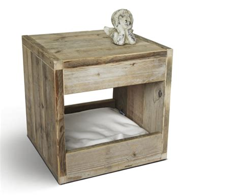Side Table For Bed Modern Bloq Pet Bed Doubles As Side Table By Binq Design