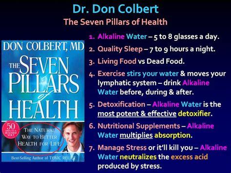 Dr Colbert Detox Program by Dr Don Colbert The Seven Pillars Of Health 1 Alkaline
