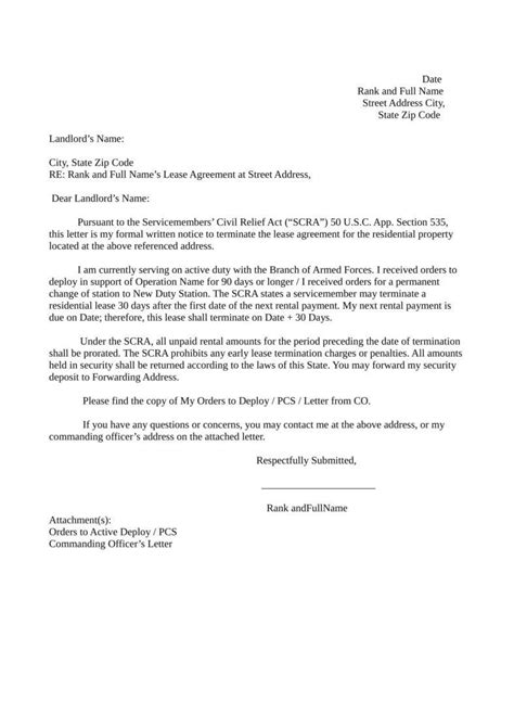 top result unique landlord termination of lease letter template