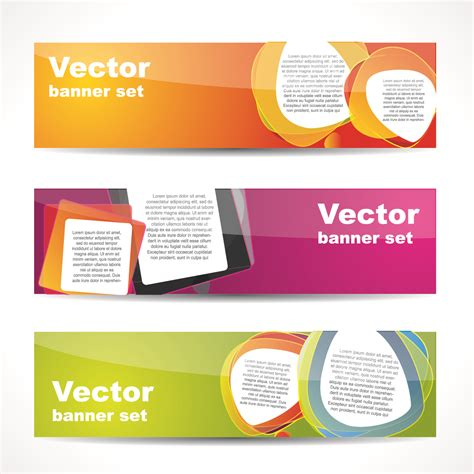 design x banner cdr fashion glossy banner 02 vector free vector 4vector