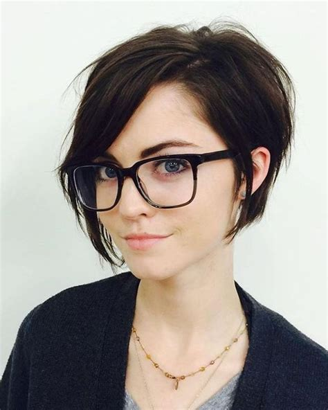 Hairstyle Glasses by 2018 Best Of Pixie Hairstyles With Glasses