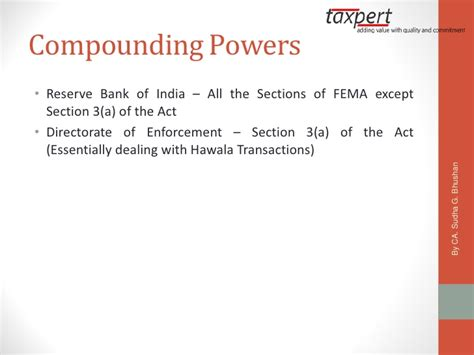 section 3 of fema componding under fema