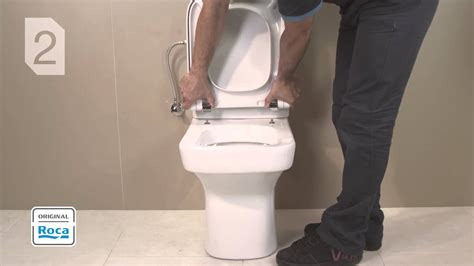 how to tighten a duravit toilet seat seat and cover installation roca youtube