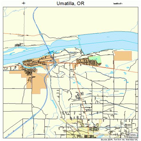 map of umatilla oregon umatilla oregon map 4175650