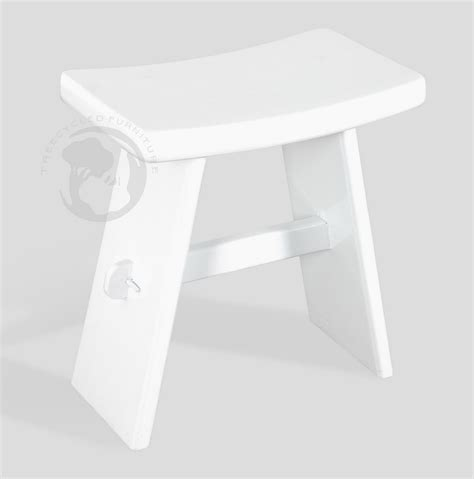 White Stool by Black And White Small Wooden Stool Series