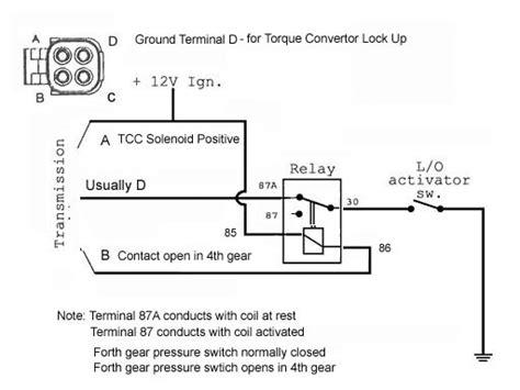 700r4 converter lock up wiring kit diagram 700r4