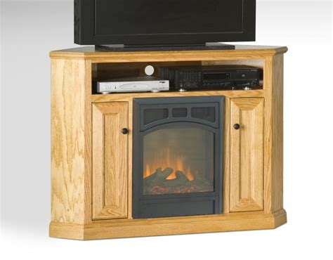 small corner electric fireplace tv stand maple wood lowes