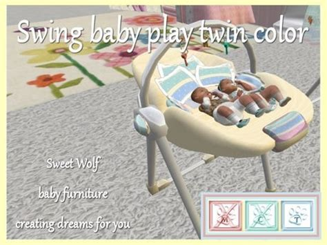 baby swings for twins second life marketplace swing baby play twin