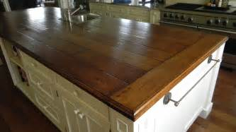 Wood Plank Bar Top Kitchen Concept On