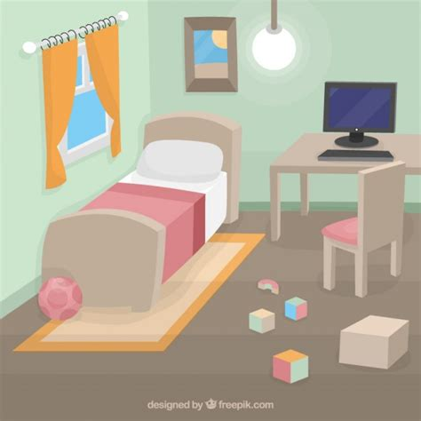 free bed child bedroom vector free