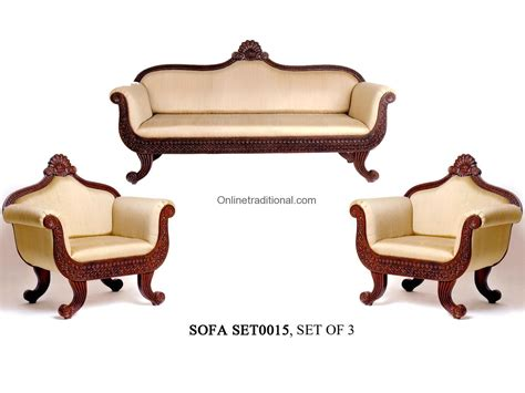 sofa loveseat ottoman set teak wood sofa sets traditional carving sofa sets