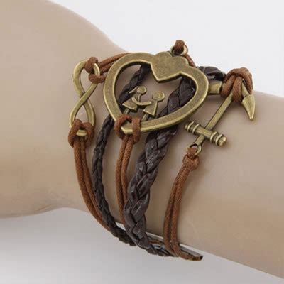 Gelang Fashion Decorated Multilayer Design 3 personal brown vintage design asujewelry