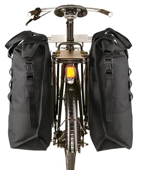 tough chrome knurled welded pannier rack bags