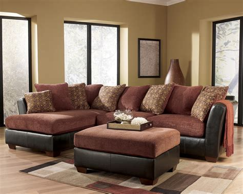 Sectionals At Furniture by Furniture Larson 31400 Cinnamon Sofa Sectional