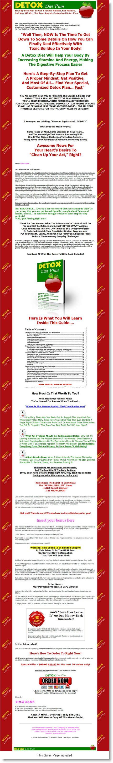 Detox Diet Meal Plan Pdf by Detox Diet Plan Ebook Label Rights