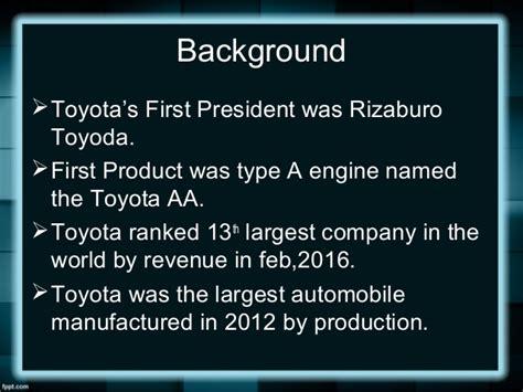 toyota company overview nestle toyota company profile