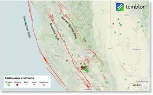 northern california earthquake map the san andreas faults are active in northern