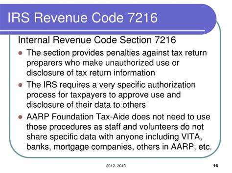 irs code section ppt aarp foundation tax aide powerpoint presentation