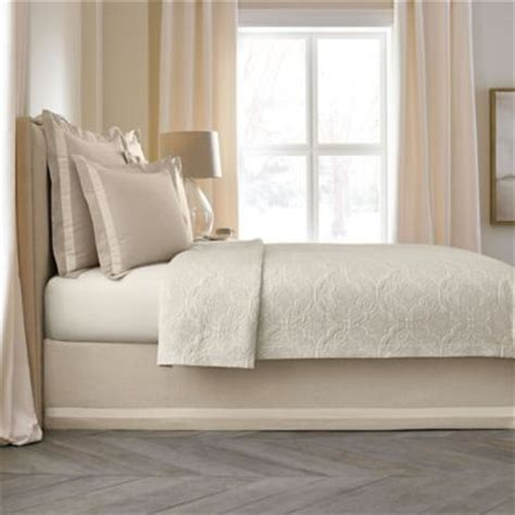 queen bed skirts wamsutta collection 174 linen cotton blend 18 inch queen bed skirt in natural