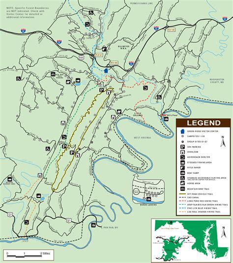 maryland forest map maps jamesdowning s trailblazer