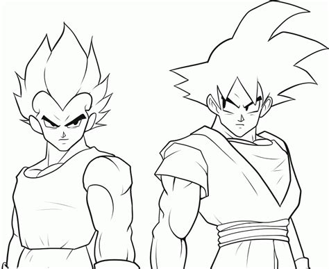 dragon ball z coloring pages pdf dragon ball z coloring pages vegeta and goku 489620