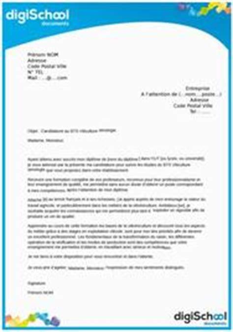 Lettre De Motivation Ecole Viticulture lettre de motivation gratuite exemples et mod 232 les