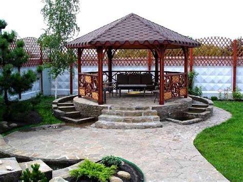 wood backyard wooden gazebo design ideas