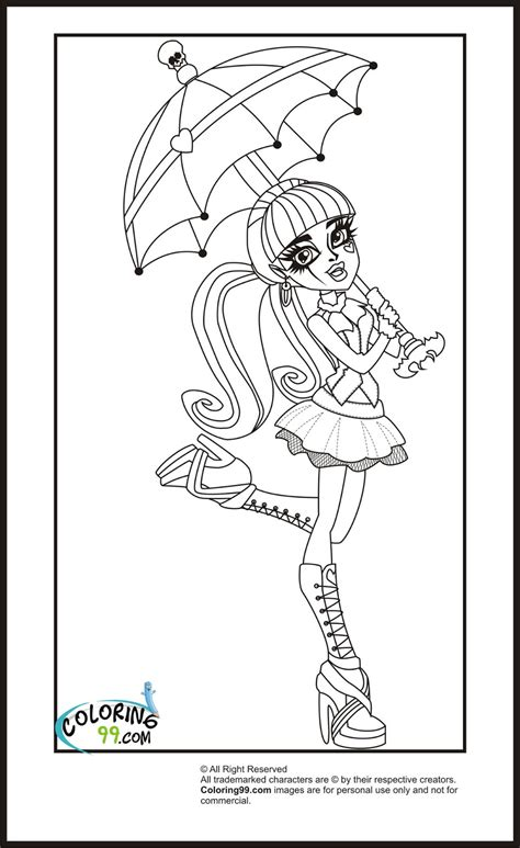 Monster High Draculaura Coloring Pages Minister Coloring High Draculaura Coloring Pages