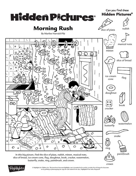printable hidden object pictures collection of free printable hidden picture worksheets