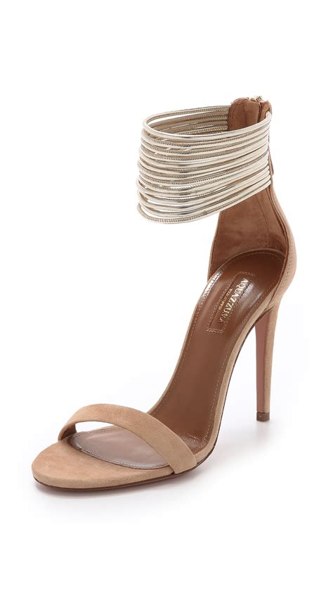 me sandals lyst aquazzura spin me around sandals in